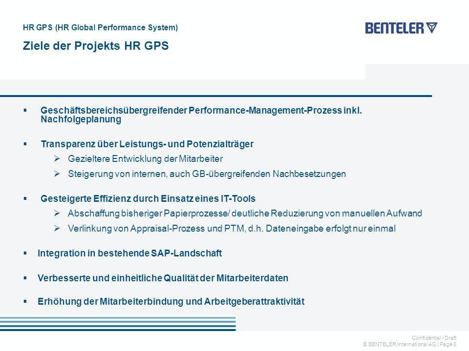 Confidential / Draft © BENTELER International AG   Page 6  Geschäftsbereichsübergreifender Performance-Management-Prozess inkl. Nachfolgeplanung  Tr
