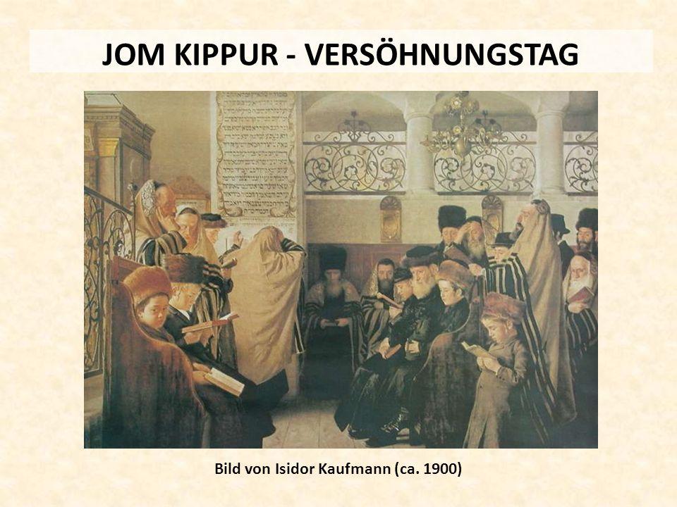JOM KIPPUR - VERSÖHNUNGSTAG Bild von Isidor Kaufmann (ca. 1900)