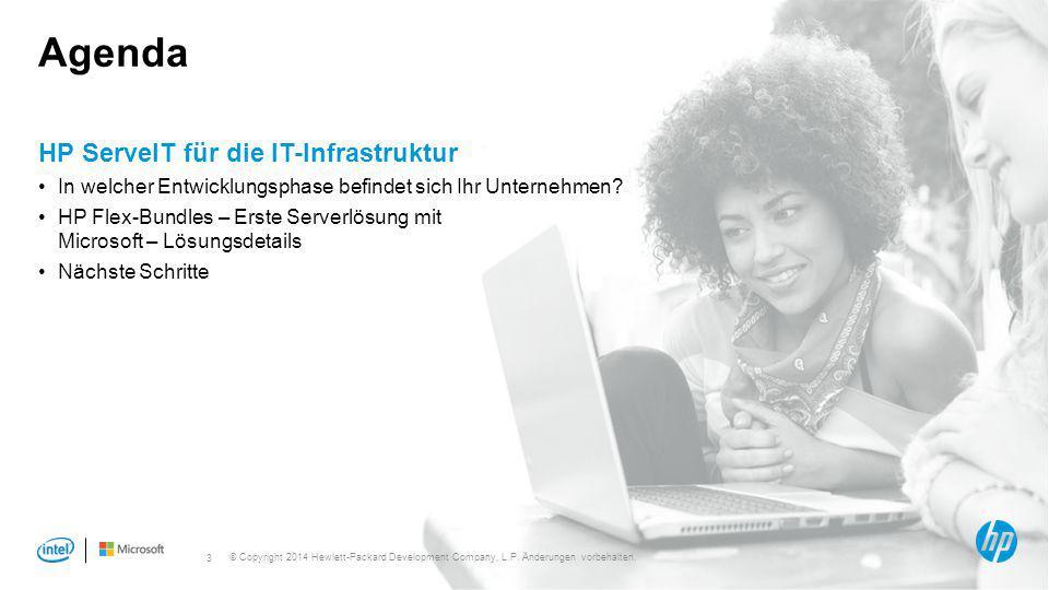 3 Agenda HP ServeIT für die IT-Infrastruktur In welcher Entwicklungsphase befindet sich Ihr Unternehmen? HP Flex-Bundles – Erste Serverlösung mit Micr