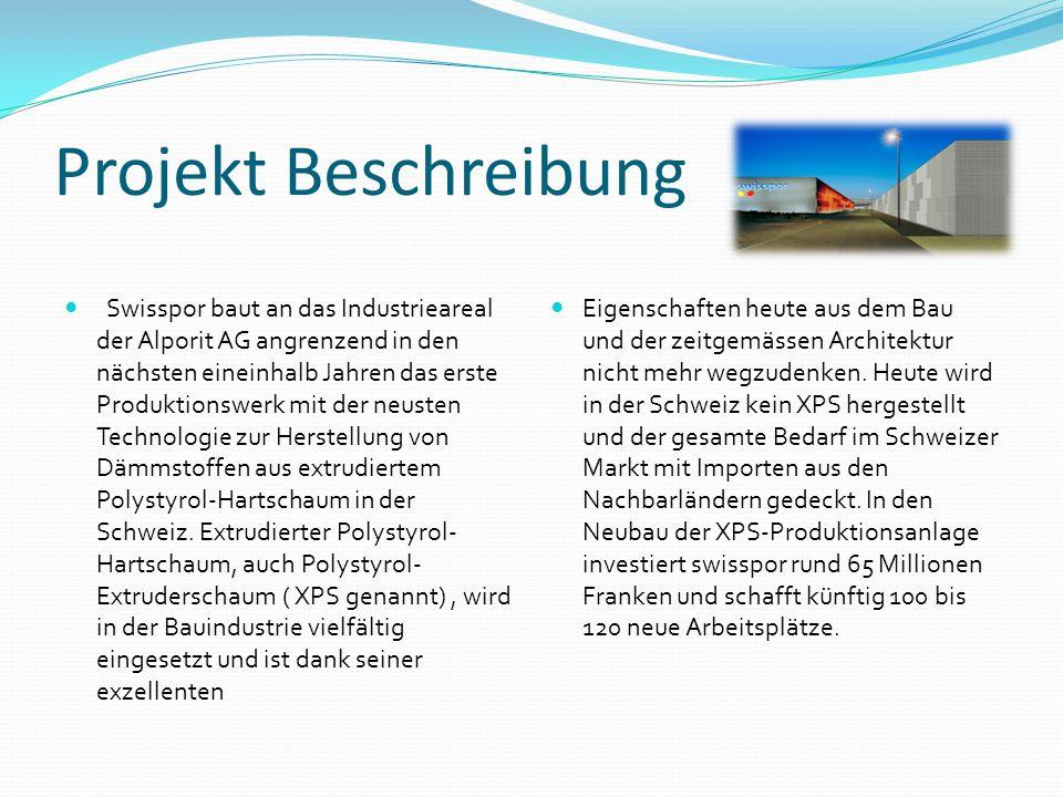 Daten Bauflaeche: 250 000m2 ( 8 Fussballfelder) Standort: Boswil-Buenzen im Kanton Aargau Geplante dauer : 15 Monate Bauunternehmen: Swisspor Architekten: Cadosh & Zimmermann Bauingenieure: Whalter Mory Maier Starschuss: 26 August 2010 Der Gebäudekomplex ist so gross wie 8 Fussballfelder, 136 Tennisfelder oder 470 Einfamilienhäuser und grenzt an das Areal der Alporit AG.
