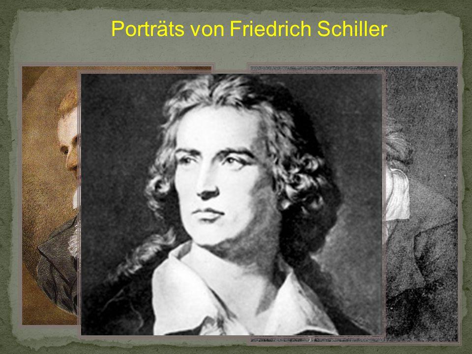 Porträts von Friedrich Schiller