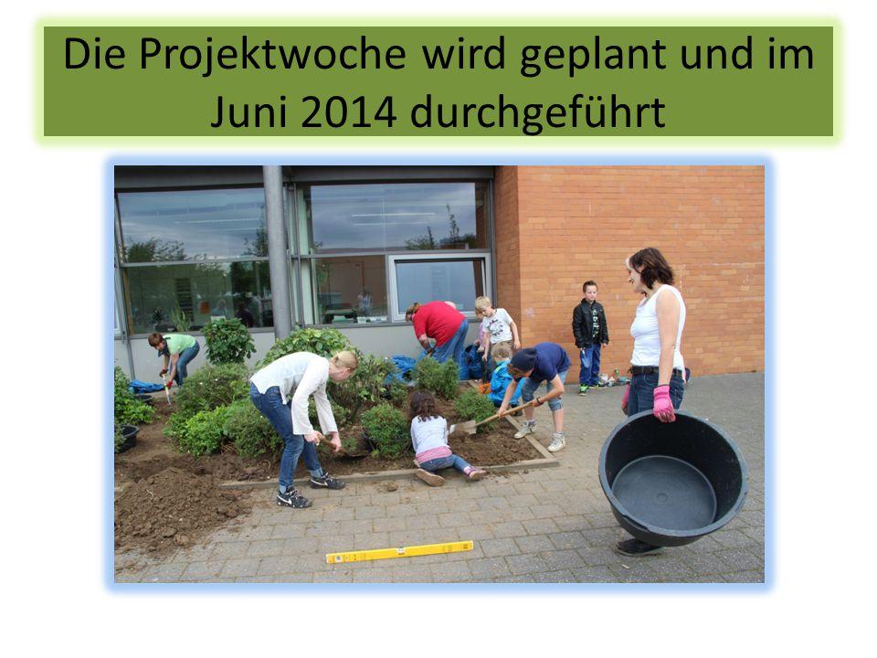 Die Projektwoche wird geplant und im Juni 2014 durchgeführt