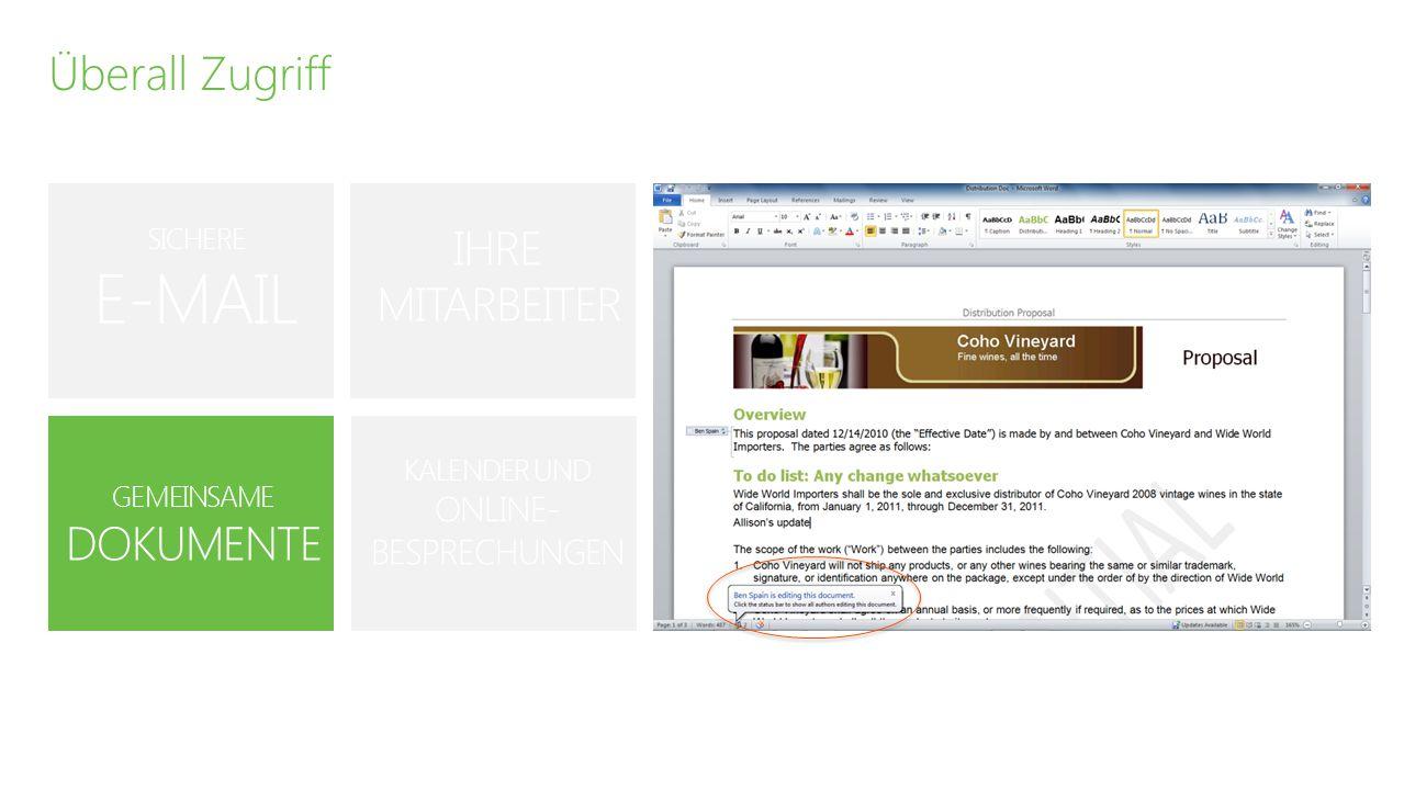 """Maximaler Nutzen """"Die finanziellen Bedingungen von Microsoft Office 365 sind ein großer Vorteil für uns – wir können Lizenzen und Postfächer nach Bedarf hinzufügen oder entfernen, dadurch sind wir flexibler. – Tom Eytcheson, Präsident, Dynamic Information Solutions GERINGE INVESTITIONS- KOSTEN NUTZERABHÄNGIGE LIZENZIERUNG IMMER AUF DEM NEUESTEN STAND EINFACHE SKALIERBARKEIT"""