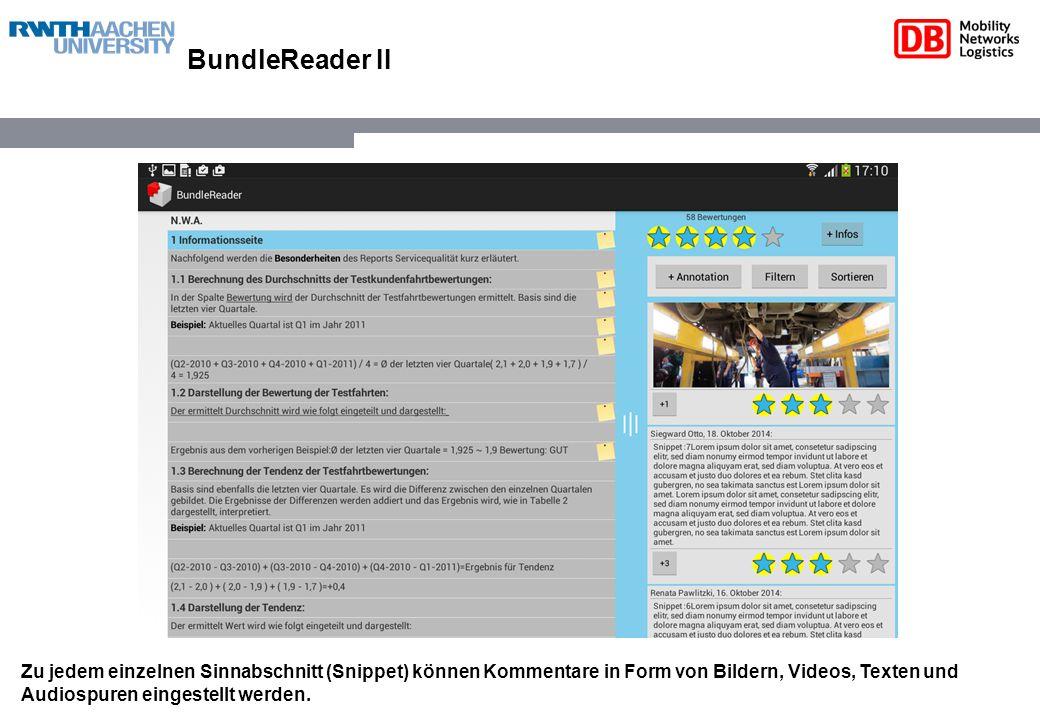 BundleReader III In dieser aktuellen Version sind noch keine Zeichnungen möglich, dies wird jedoch in einer zukünftigen Version hinzugefügt.