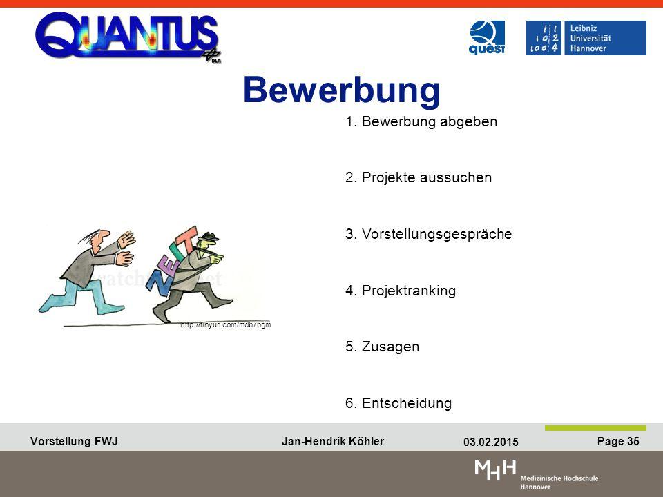 Vorstellung FWJ Jan-Hendrik Köhler 03.02.2015 Page 35 Vorstellung FWJ Jan-Hendrik Köhler 03.02.2015 Page 35 Bewerbung 1.