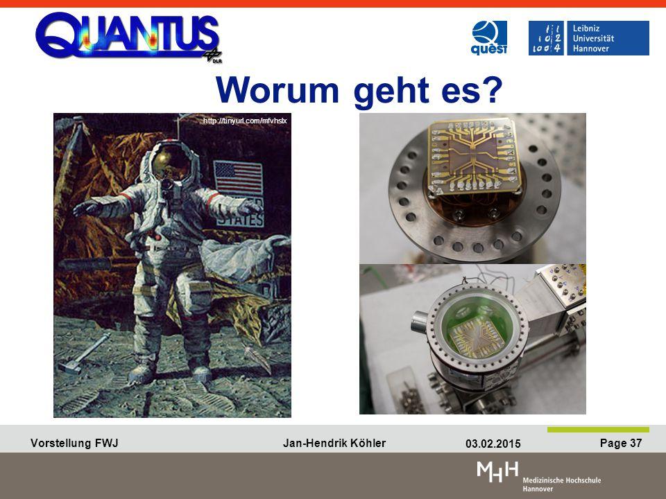 Vorstellung FWJ Jan-Hendrik Köhler 03.02.2015 Page 37 Vorstellung FWJ Jan-Hendrik Köhler 03.02.2015 Page 37 Worum geht es.