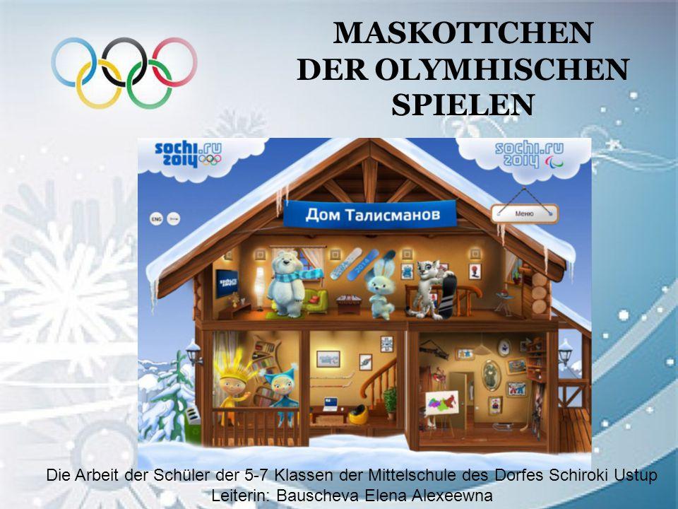 Grundlegende Frage Warum ist das Maskottchen der Attribut der Olympischen Spielen geworden?