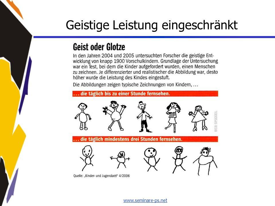 www.seminare-ps.net Geistige Leistung eingeschränkt