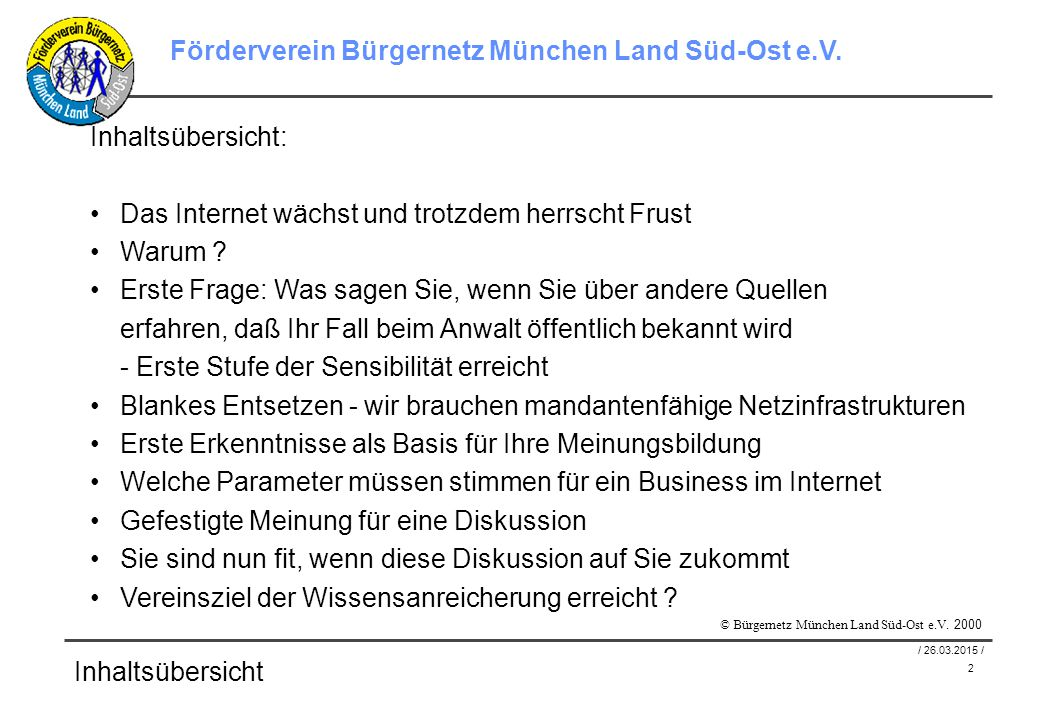 3 / 26.03.2015 / Förderverein Bürgernetz München Land Süd-Ost e.V.