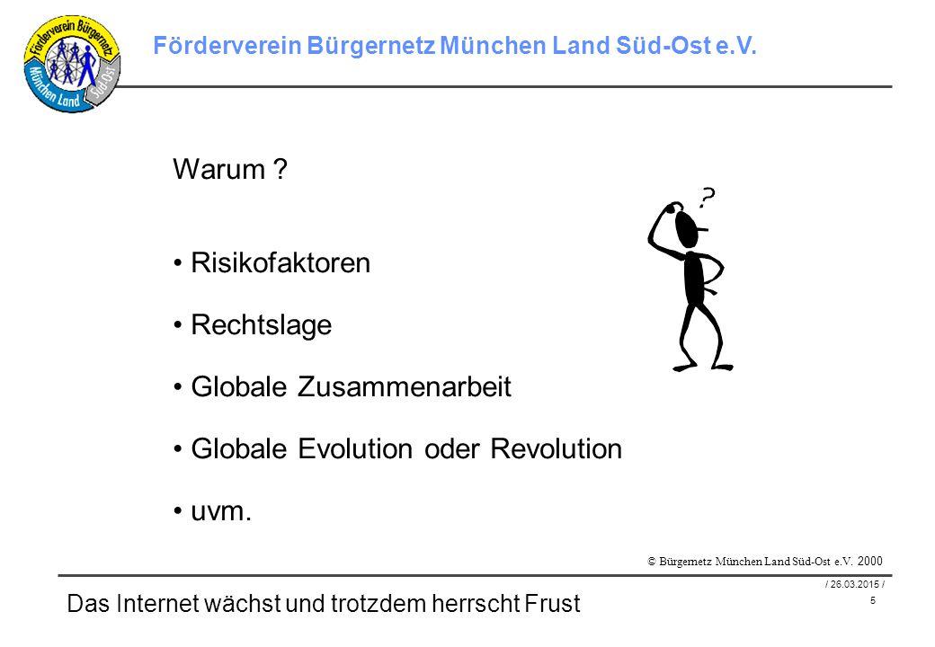 6 / 26.03.2015 / Förderverein Bürgernetz München Land Süd-Ost e.V.