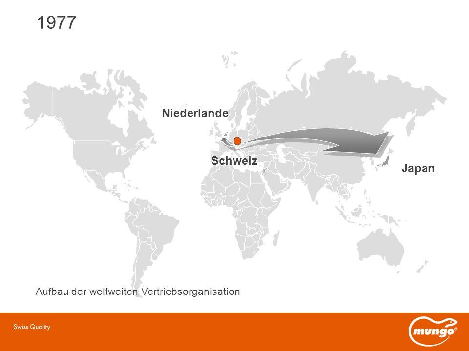 1977 Japan Schweiz Niederlande Aufbau der weltweiten Vertriebsorganisation