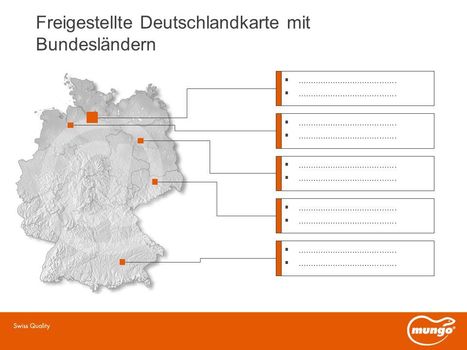 Freigestellte Deutschlandkarte mit Bundesländern ........................................