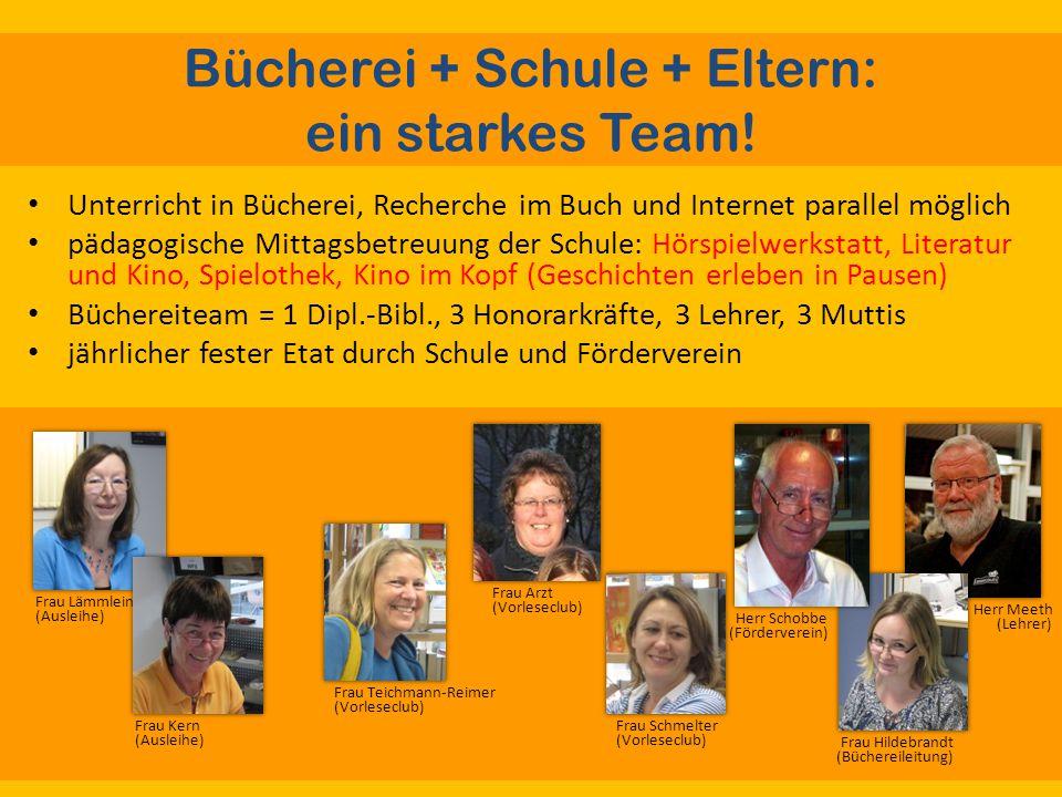 Bücherei + Schule + Eltern: ein starkes Team.