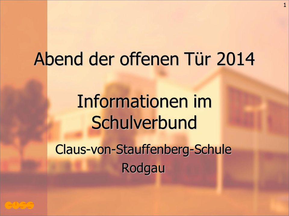 1 Abend der offenen Tür 2014 Informationen im Schulverbund Claus-von-Stauffenberg-SchuleRodgau