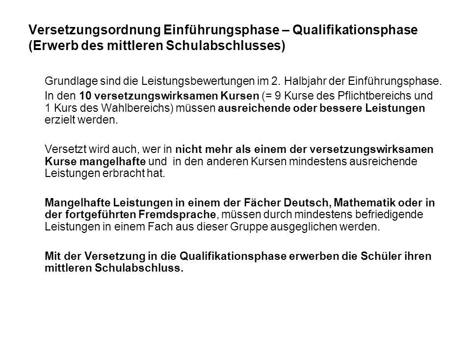 20 Die gymnasiale Oberstufe im Überblick Überblick über die Qualifikationsphase und die Abiturprüfung (mind.