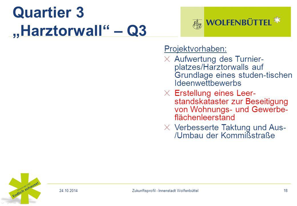 Projektvorhaben: Aufwertung des Turnier- platzes/Harztorwalls auf Grundlage eines studen-tischen Ideenwettbewerbs Erstellung eines Leer- standskataste