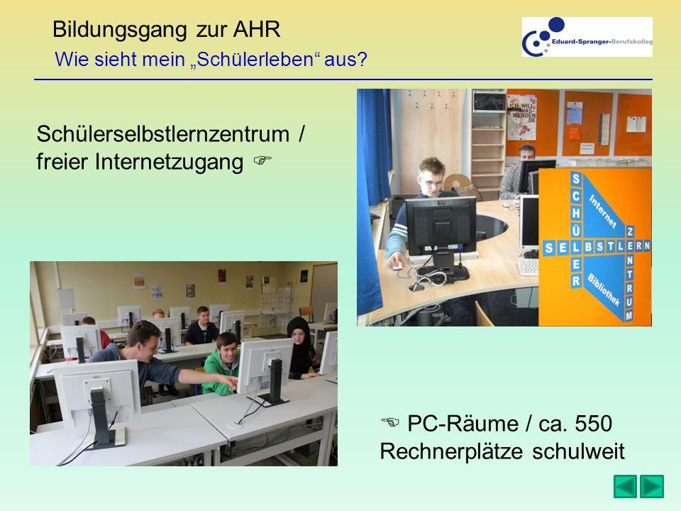 """Bildungsgang zur AHR Wie sieht mein """"Schülerleben aus."""