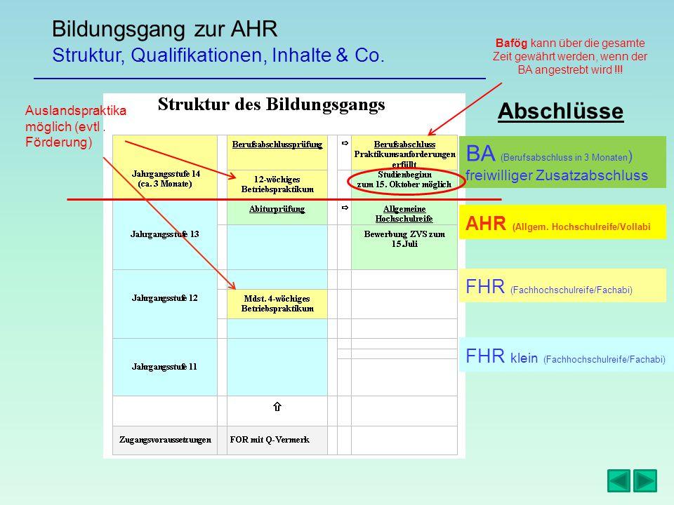 Bildungsgang zur AHR Abschlüsse Struktur, Qualifikationen, Inhalte & Co.