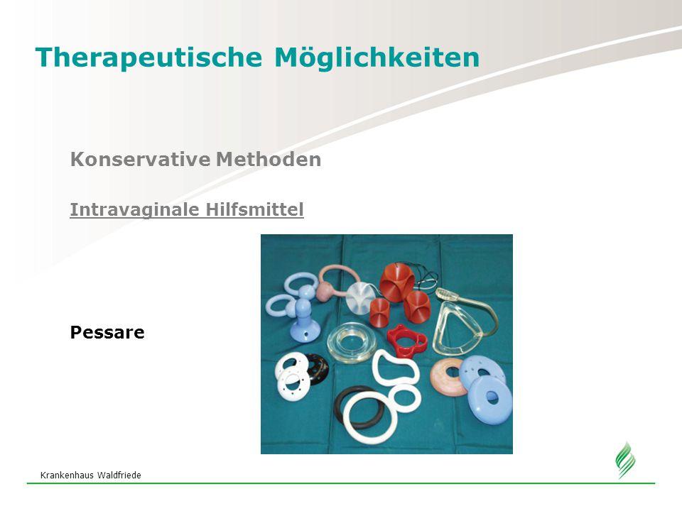 Krankenhaus Waldfriede Therapeutische Möglichkeiten Konservative Methoden Intravaginale Hilfsmittel Pessare