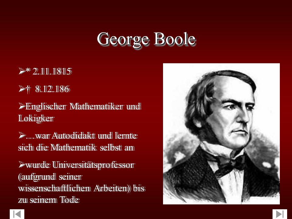 Einführung in die Boolesche Algebra Einführung in die Boolesche Algebra  Algebren (logische Systeme) - Grundlagen von elementaren Schaltungen, Prozessorarchitekturen, höheren Programmiersprachen sowie Spezifikation und Verifikation von Programmen.