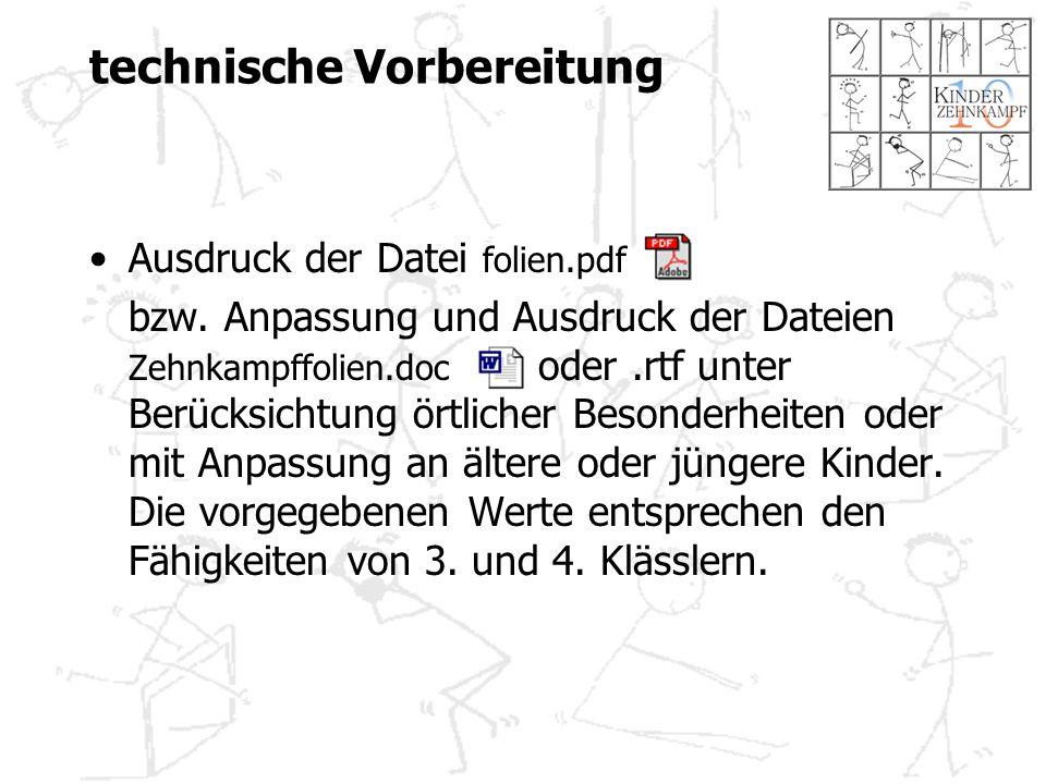 technische Vorbereitung Ausdruck der Datei folien.pdf bzw.