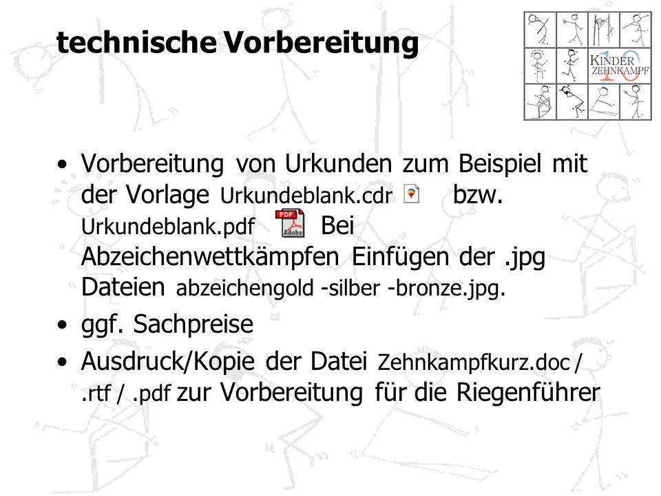 technische Vorbereitung Vorbereitung von Urkunden zum Beispiel mit der Vorlage Urkundeblank.cdr bzw.
