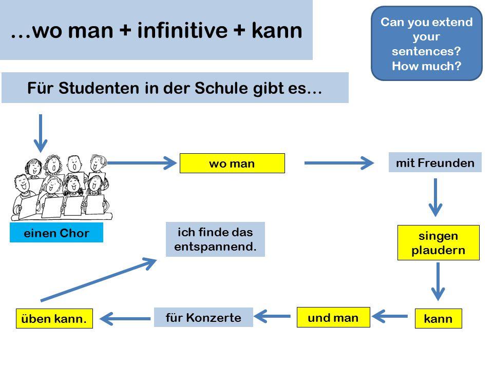 Für Studenten in der Schule gibt es… einen… einen Chor ein Orchester eine ________mannschaft Schulreisen nach Deutschland / Frankreich / Spanien.