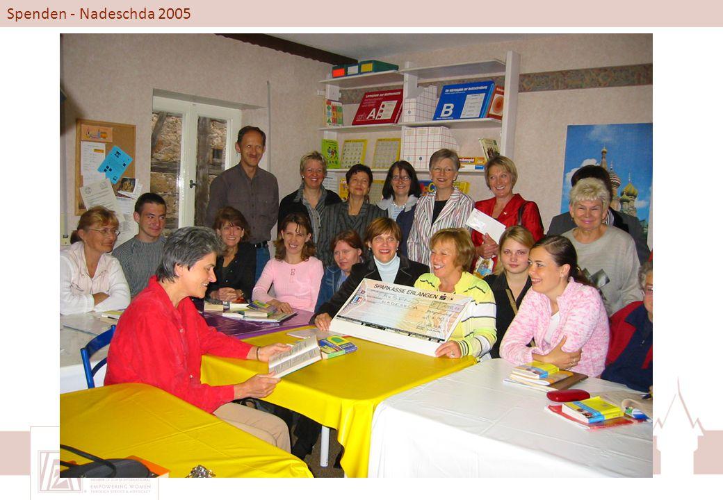 Spenden - Nadeschda 2005
