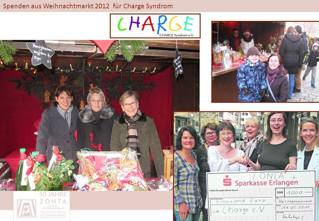 Spenden aus Weihnachtmarkt 2012 für Charge Syndrom