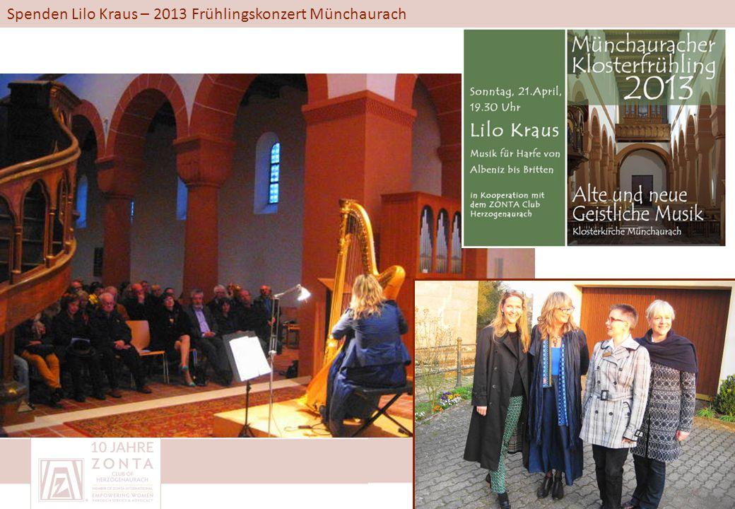 Spenden Lilo Kraus – 2013 Frühlingskonzert Münchaurach