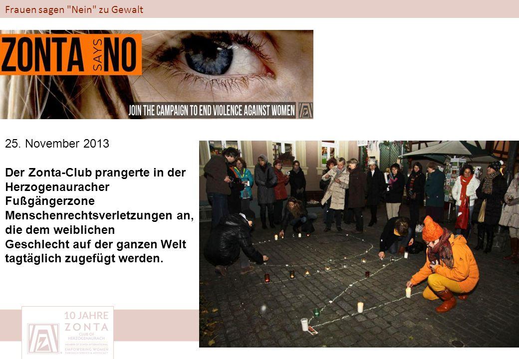 Frauen sagen Nein zu Gewalt 25.