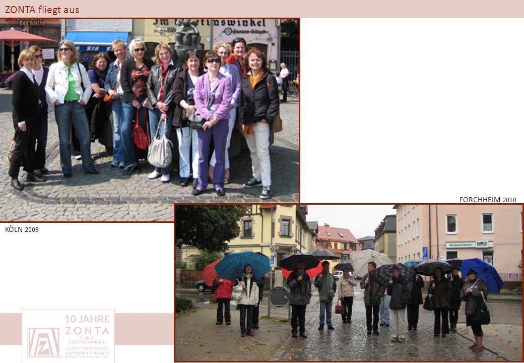 ZONTA fliegt aus KÖLN 2009 FORCHHEIM 2010