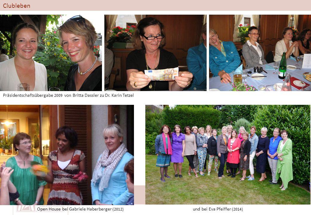 Clubleben Präsidentschaftsübergabe 2009 von Britta Dassler zu Dr.