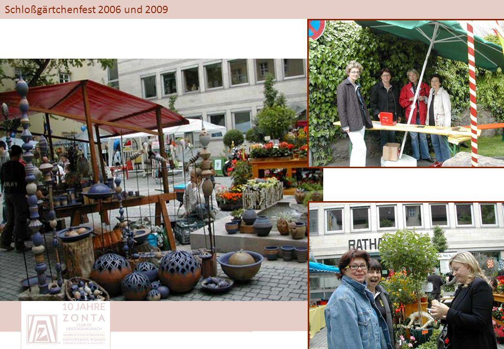 Schloßgärtchenfest 2006 und 2009