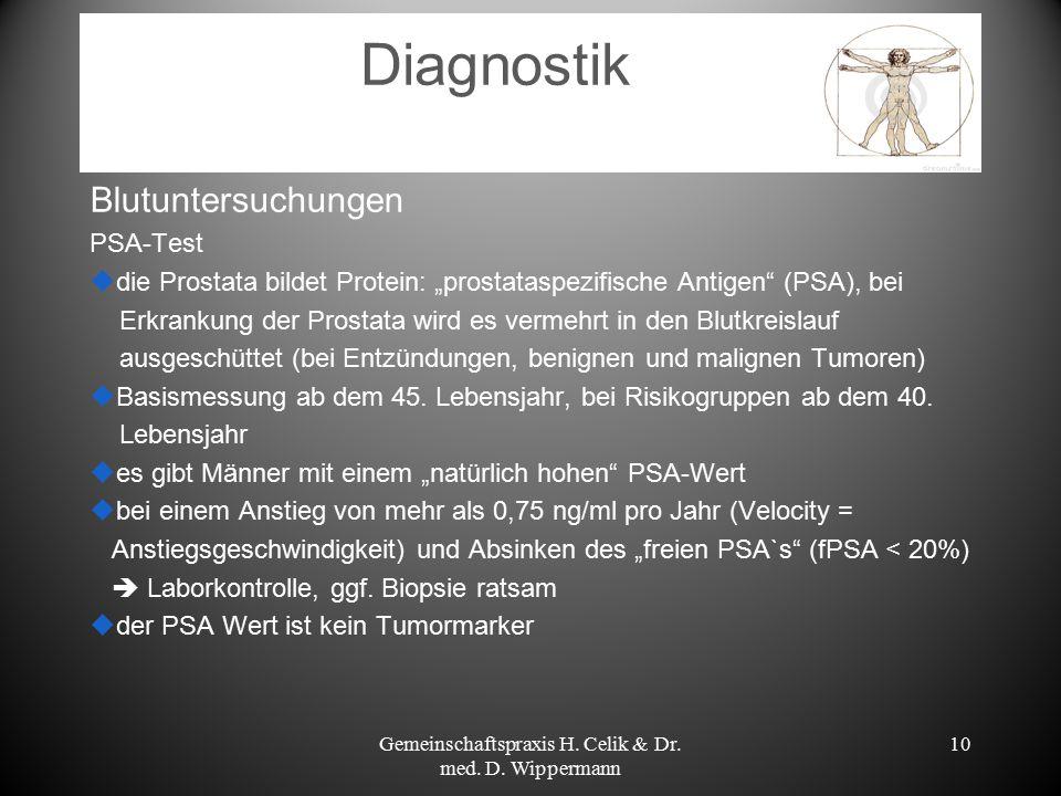 """10 Diagnostik Blutuntersuchungen PSA-Test  die Prostata bildet Protein: """"prostataspezifische Antigen"""" (PSA), bei Erkrankung der Prostata wird es verm"""