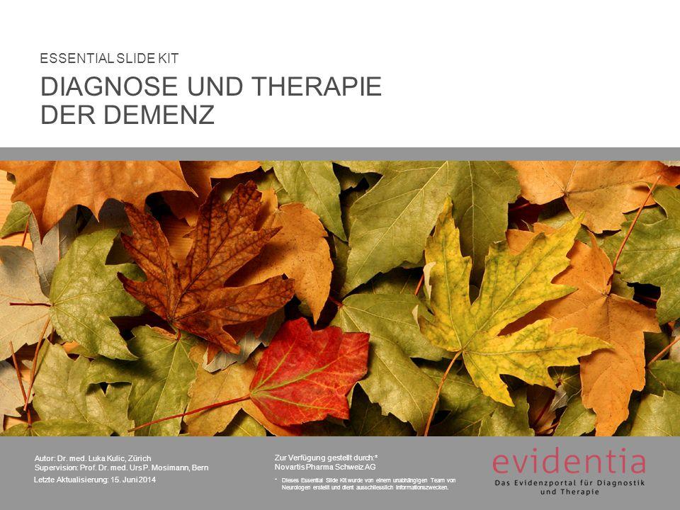 Zugelassene Acetylcholinesterase-Inhibitoren DIAGNOSE UND THERAPIE DER DEMENZ 62 7.