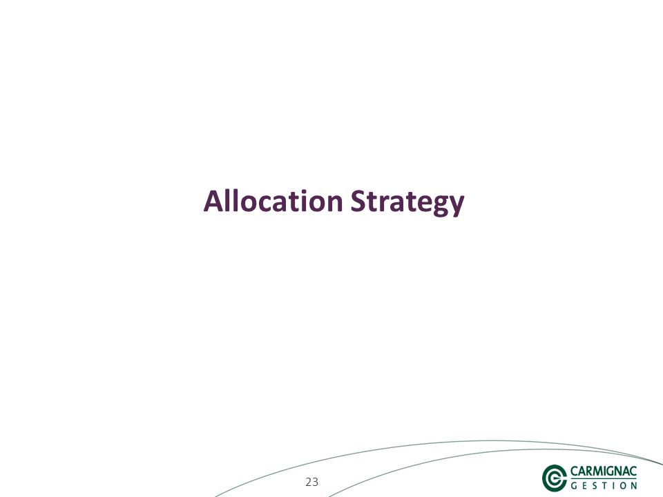 23 Allocation Strategy