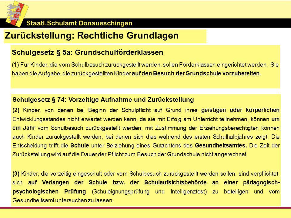 Verwaltungsvorschrift Grundschulförderklasse II.1.