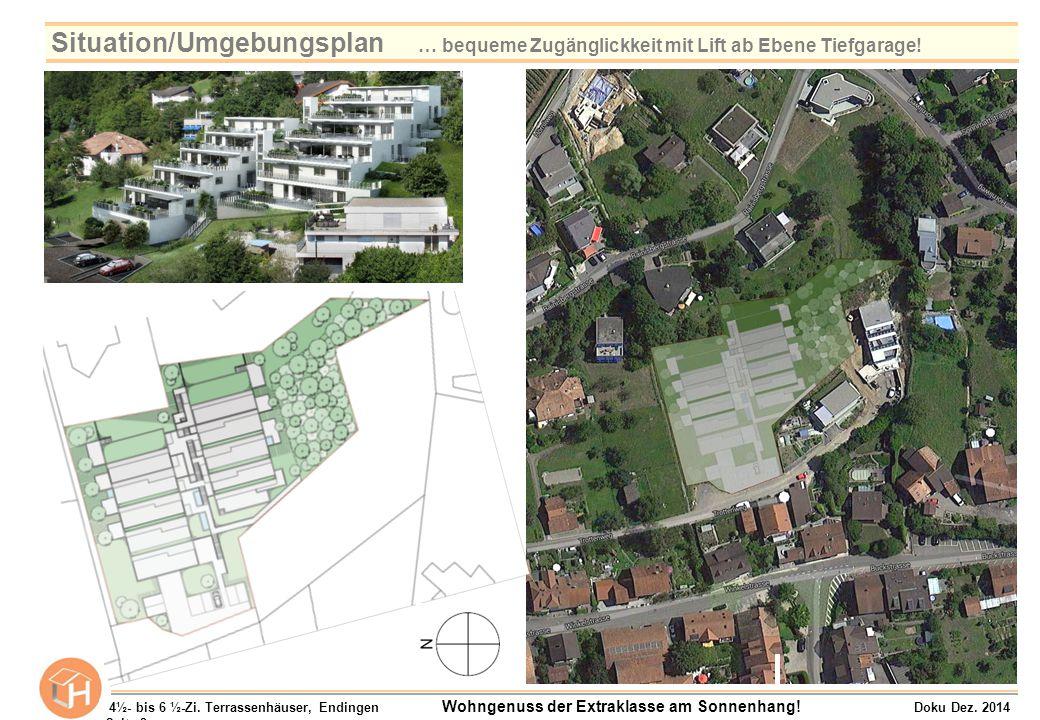 Terrassenhaus B8 / Ebene 6 und 7 Raumangebot 6½-Zimmer Wohnfläche (NWF): 234.0 m² Nebenräume (BF): 39.7 m² Aussenbereich:- Terrasse 164.4 m² - Sitzplatz 23.1 m² - Grünfläche 143.8 m² EBENE 7 4½- bis 6 ½-Zi.