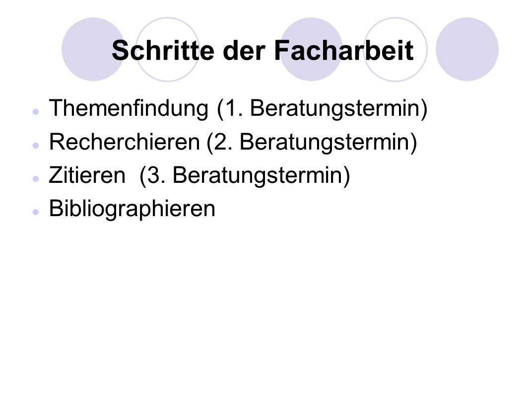 Aufbau der Facharbeit Titelblatt (gestaltetes Deckblatt) (event.