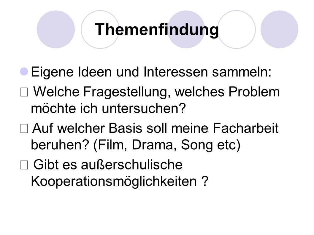 Titelblatt Genauer Titel der Arbeit Facharbeit im Fach …..
