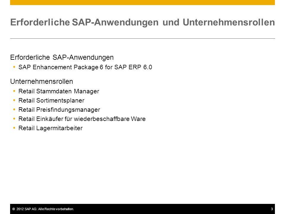 ©2012 SAP AG. Alle Rechte vorbehalten.14 Vorlagehandling