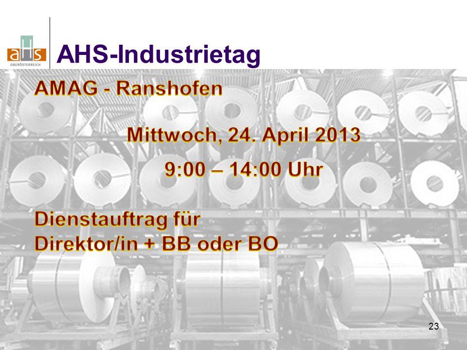 23 AHS-Industrietag