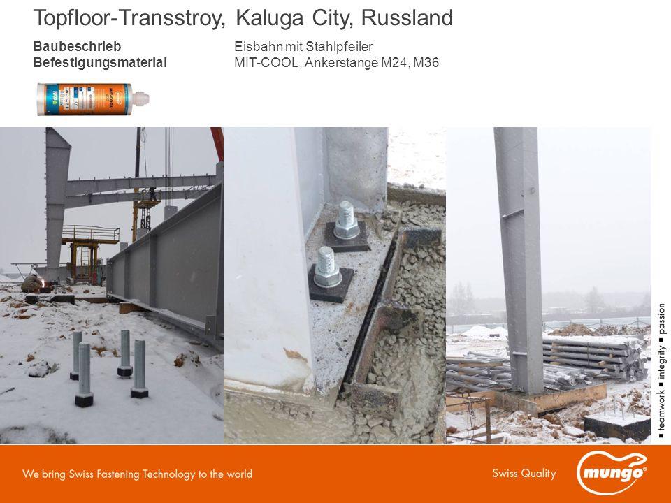 BaubeschriebEisbahn mit Stahlpfeiler BefestigungsmaterialMIT-COOL, Ankerstange M24, M36 Topfloor-Transstroy, Kaluga City, Russland