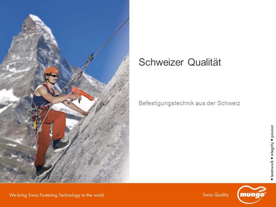 Schweizer Qualität Befestigungstechnik aus der Schweiz
