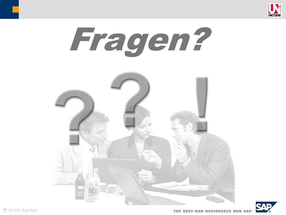  SAP 2007, Birgit Berger Fragen?