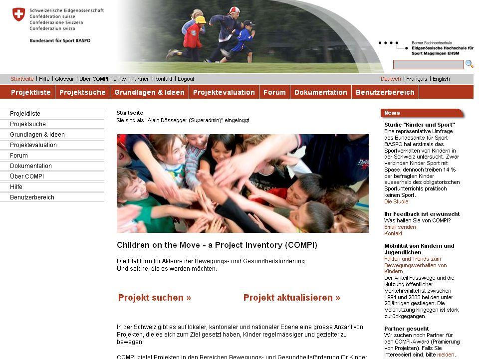 8 Bundesamt für Sport BASPO Ressort Bewegung und Gesundheit