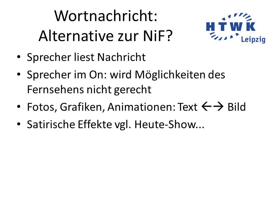 Wortnachricht: Alternative zur NiF.