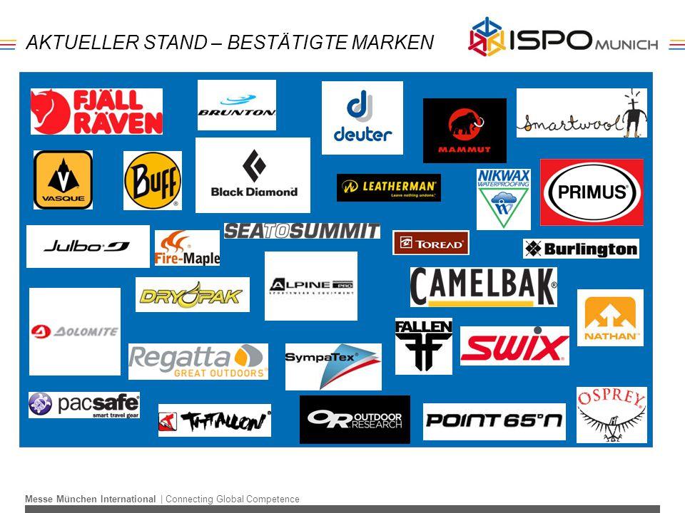 Messe München International | Connecting Global Competence AKTUELLER STAND – BESTÄTIGTE MARKEN
