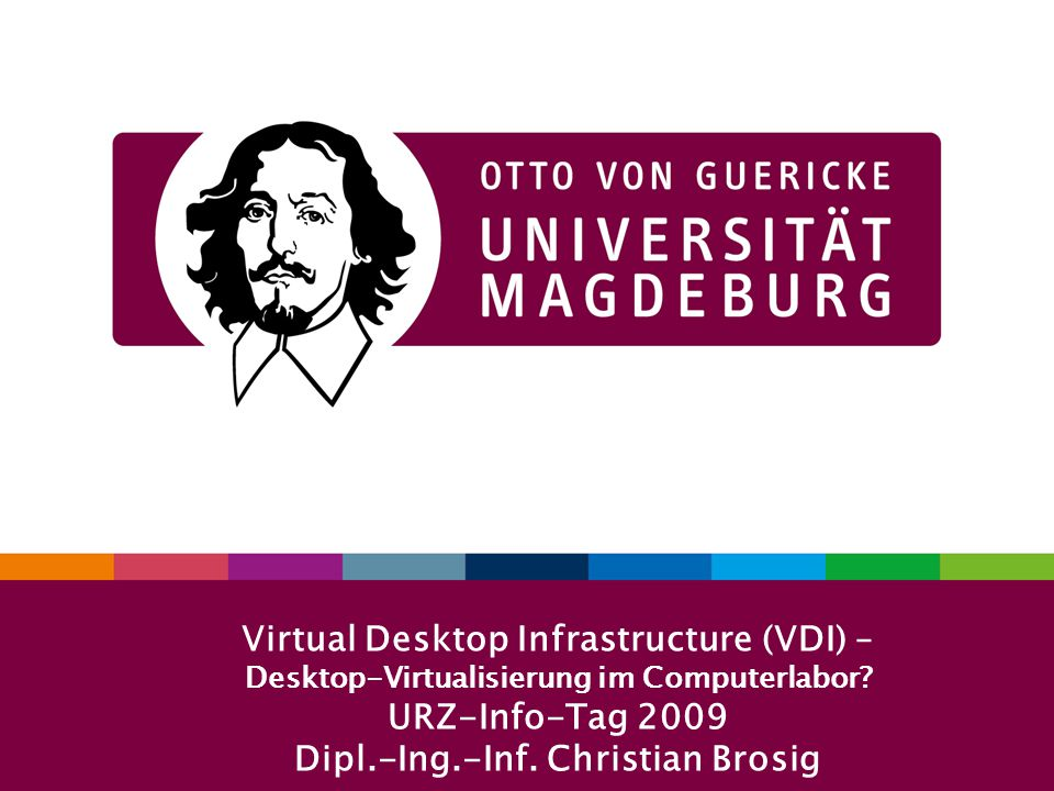 Virtual Desktop Infrastructure (VDI) – Desktop-Virtualisierung im Computerlabor.